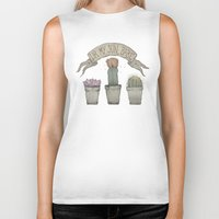 cacti Biker Tanks featuring Cacti by cyrrs