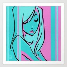 POUT Art Print