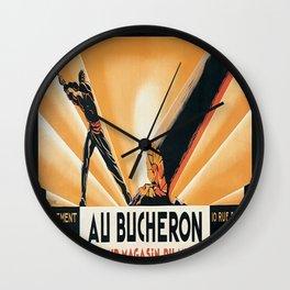 Vintage poster - Au Bucheron Wall Clock