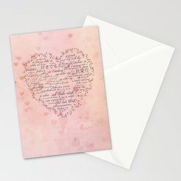 I Love You in different languages Stationery Cards