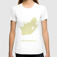 south africa T-shirts featuring South Africa map by CartoPosters Maps