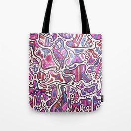 Formas Azules & Rosas Tote Bag