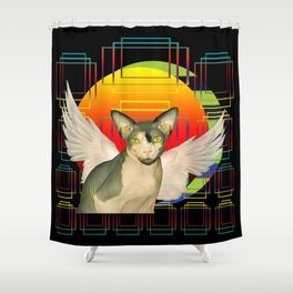Sphynx Angel by Sunset Shower Curtain
