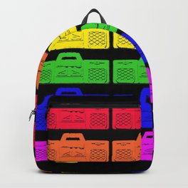Gay Disco! Cool Rainbow Ghetto Blaster Pattern Design! Backpack