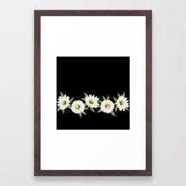 Chamomile (Black) Framed Art Print