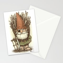 Gnome Woodcutter Stationery Cards