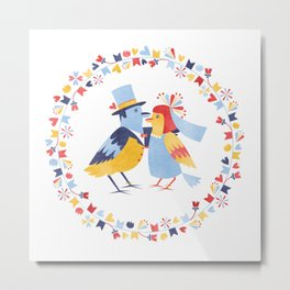Wedding birds Metal Print