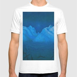 """Harald Sohlberg """"Winter Night in the Mountains (Winter Night in Rondane)"""" (1914) T-shirt"""