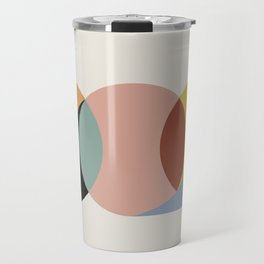 Geometric Harmony - Vintage Rainbow Colors Travel Mug