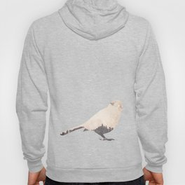 pink sky bird with trees Hoody