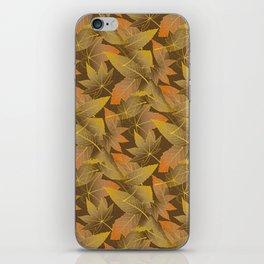 Autumn Leaves Pattern iPhone Skin