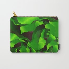 Green frayed abstraction Carry-All Pouch