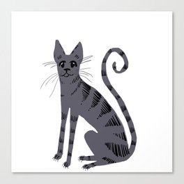 Grey Tabby Cat Canvas Print