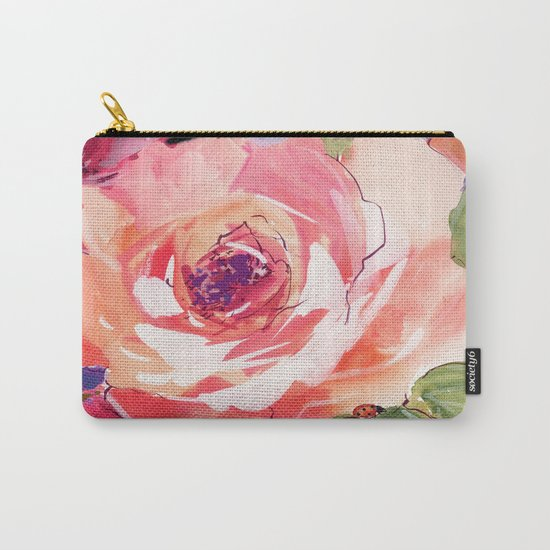 The Rose floral  Carry-All Pouch