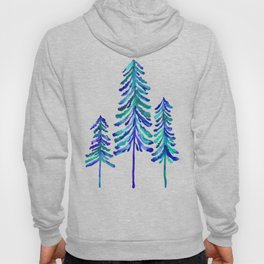 Pine Trees – Navy & Turquoise Palette Hoody