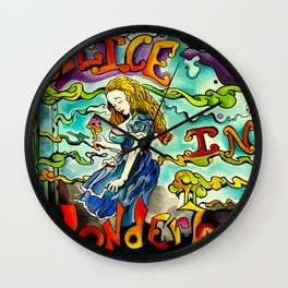 Alice in Wonderbra  Wall Clock