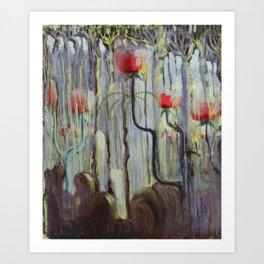 Red Poppies - View of the World Creation of the World No. IX by Mikalojus Konstantinas Ciurlionis Art Print