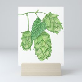 Beer Hop Flowers Mini Art Print