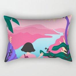 Girl wanderer Rectangular Pillow