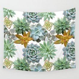 Succulent Pattern - Organic Botanics -  Nature Lover Succulent Mix for the Plant Lover Wall Tapestry