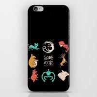 miyazaki iPhone & iPod Skins featuring House of Miyazaki by le.duc