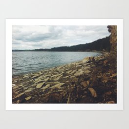 Rock Shore Art Print