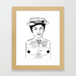 Mary Poppins Cor Blimey Ink'd Series Framed Art Print