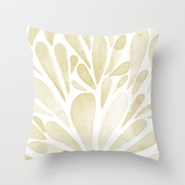 Watercolor artistic drops - yellow Throw Pillow