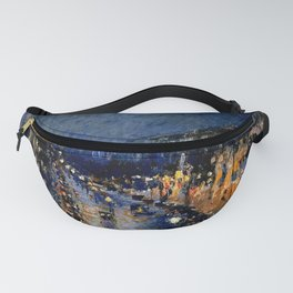The Boulevard Montmartre At Night : Camille Pissarro Fanny Pack