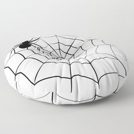 Spider and Web Floor Pillow