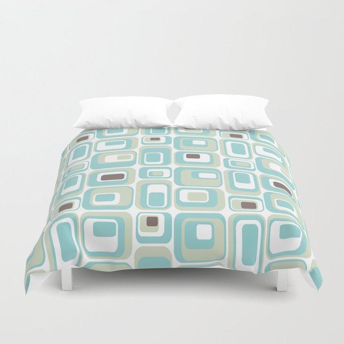 Retro Rectangles Mid Century Modern Geometric Vintage Style Bettbezug