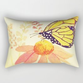 Butterfly on Coneflower in Summer by Twelve Little Tales Rectangular Pillow