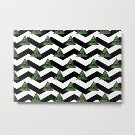 illuminati chevron pattern Metal Print