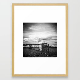 The Swans of Galway - Holga Double Exposure in Galway, Ireland  Framed Art Print