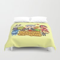 persona Duvet Covers featuring Persona Crossing by Cassie S