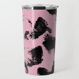 Blush and Black Travel Mug