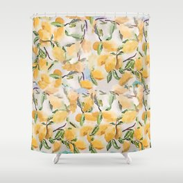 Watercolor Lemons Shower Curtain