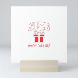 size matters Mini Art Print