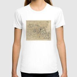 Vintage Boston Revolutionary War Map (1775) T-shirt