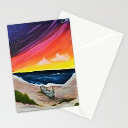 Red Sky at Night, Sailors' Delight by Hangin Fin TM Stationery Cards