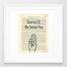 district 12: we salute you Framed Art Print
