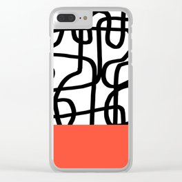 Messy Line Clear iPhone Case