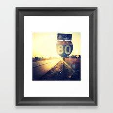 Highway 80 West Framed Art Print