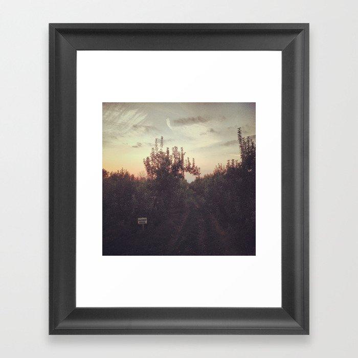 Calendar House Apple Orchard  Framed Art Print