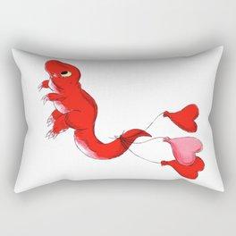 Triple Heart T Rex Rectangular Pillow