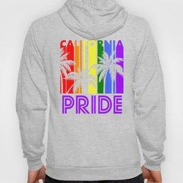 California Pride Gay Pride LGBTQ Rainbow Palm Trees Hoody