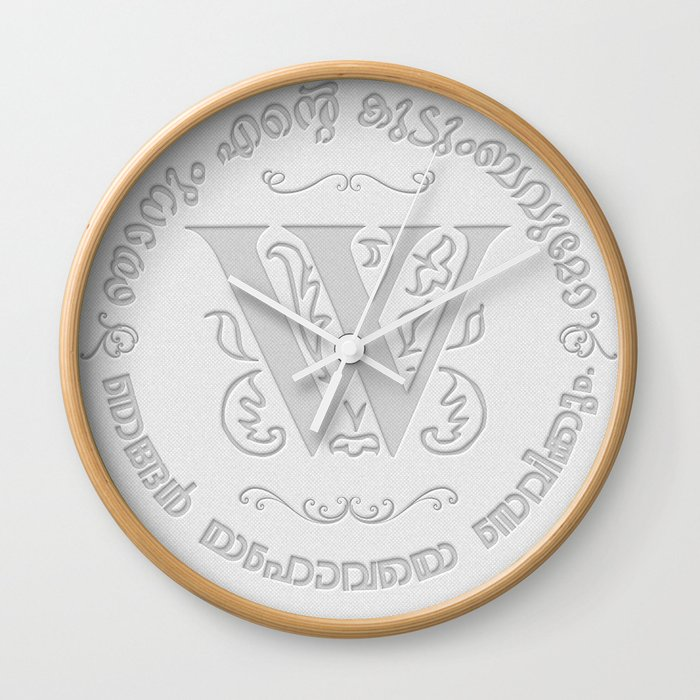 Joshua 24:15 - (Letterpress) Monogram W Wall Clock