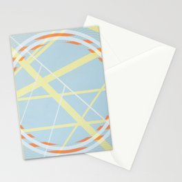 crossroads ll - orangle circle graphic Stationery Cards