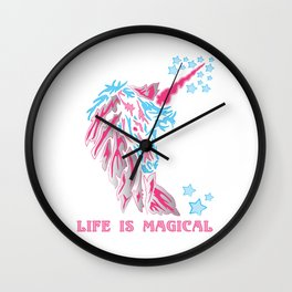 Unicorn: Life is Magical Wall Clock