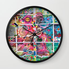 Subconsious Safari By Artist Jeff Parrott Psyexpression Wall Clock